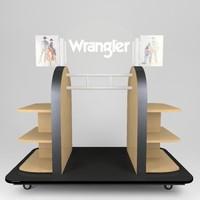 retail store clothes gondola 3d model