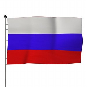 flag russia 3d obj