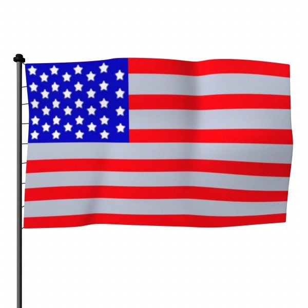 3ds max usa flag