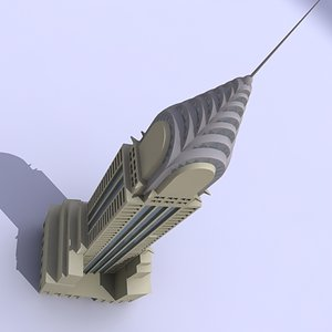 3d model chrysler building