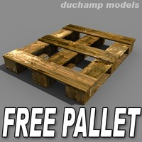 free 3ds mode wooden pallet