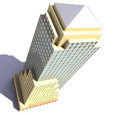 3d skyscraper building