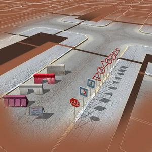 3ds max arab city street construction kit