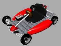 red race cart 3d model