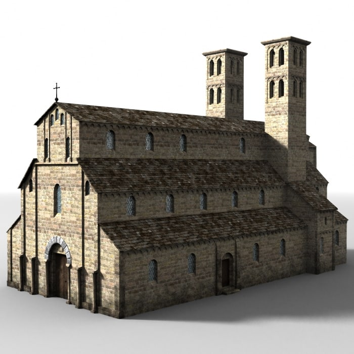 lightwave medieval church