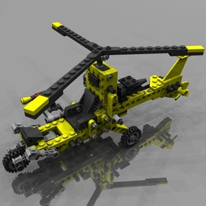 technic helicopter 3ds