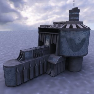 3d model futuristic architecture