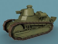 wwi tank renault ft17 3d model
