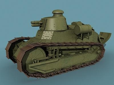 wwi tank renault ft17 3d model