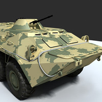 btr-80 armored vehicle 3d model