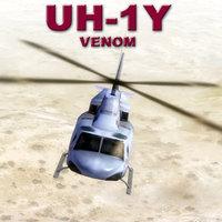 uh-1y venom 3d model