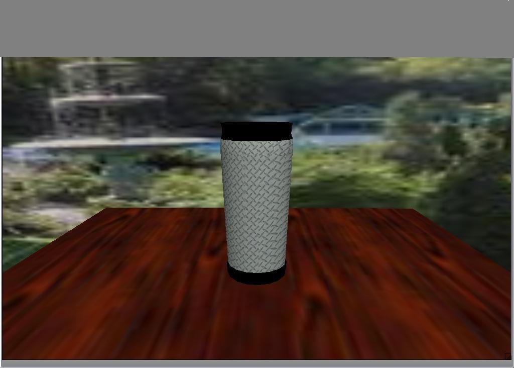 mug diamond plate 3d model