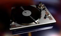 3d model technics sl-1200 dj turntable