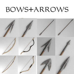 3d model bow arrow
