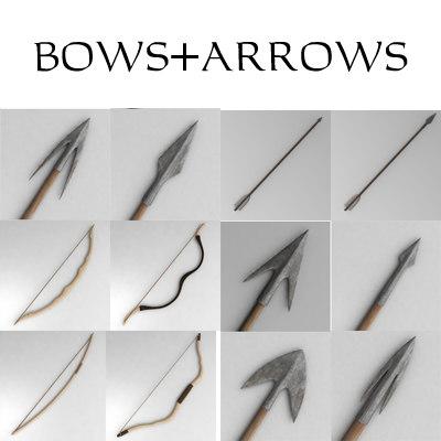 3d model bow arrow