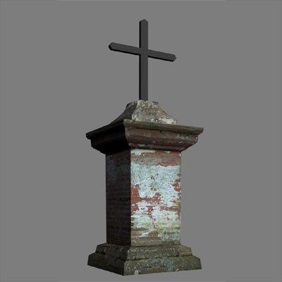 3d model christian cross stand verfeil
