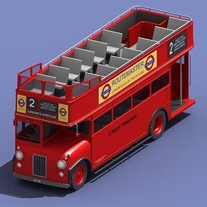 routemaster london tour bus 3d model