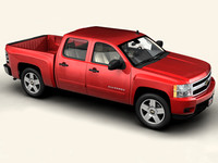 3d model chevrolet silverado 2007 interior car