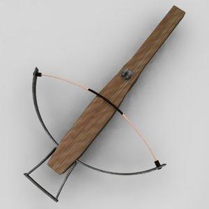 bow crossbow cross 3d obj