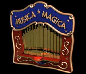 3dsmax organ stage musica magica