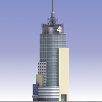 3d model conde nast skyscraper building