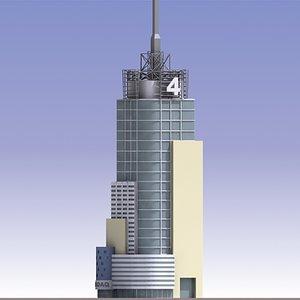 3d model conde nast skyscraper building