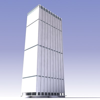 chase manhattan plaza building 3d 3ds