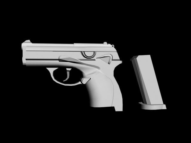beretta 9000 pistol 3d model