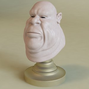 fat male head 3d model