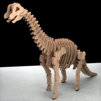 3d model of puzzle dinosaur toy
