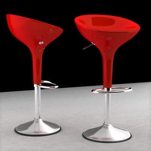 chair stool bombo 3d model