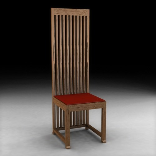3d model chair frank lloyd wright