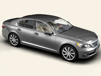 3d model lexus ls 460 interior car