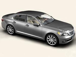 3d model lexus ls 460 interior car