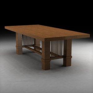 3ds max frank lloyd wright wood