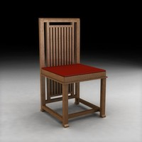 3d model frank lloyd wright design chair