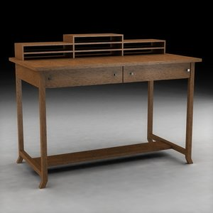 3d frank lloyd wright table desk