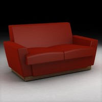 frank lloyd wright classic sofa 3ds