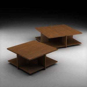 frank lloyd wright wood 3d 3ds