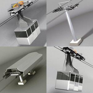 cableway wagon 3d model