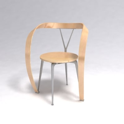 952 revers chair 3d model