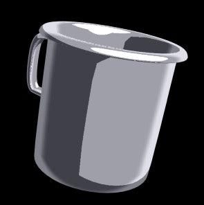 free pot bucket 3d model