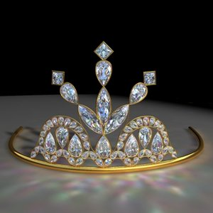 3d 9 tiara crown model