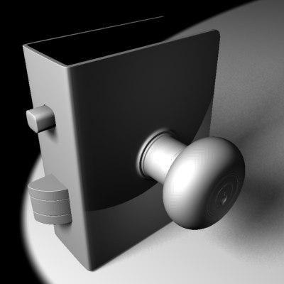 3ds door knob