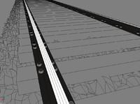 railroad tracks 3d model