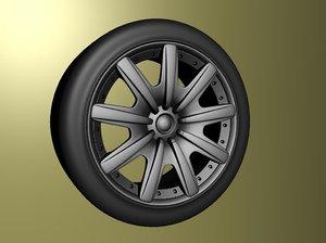 3d bentley gt wheel model