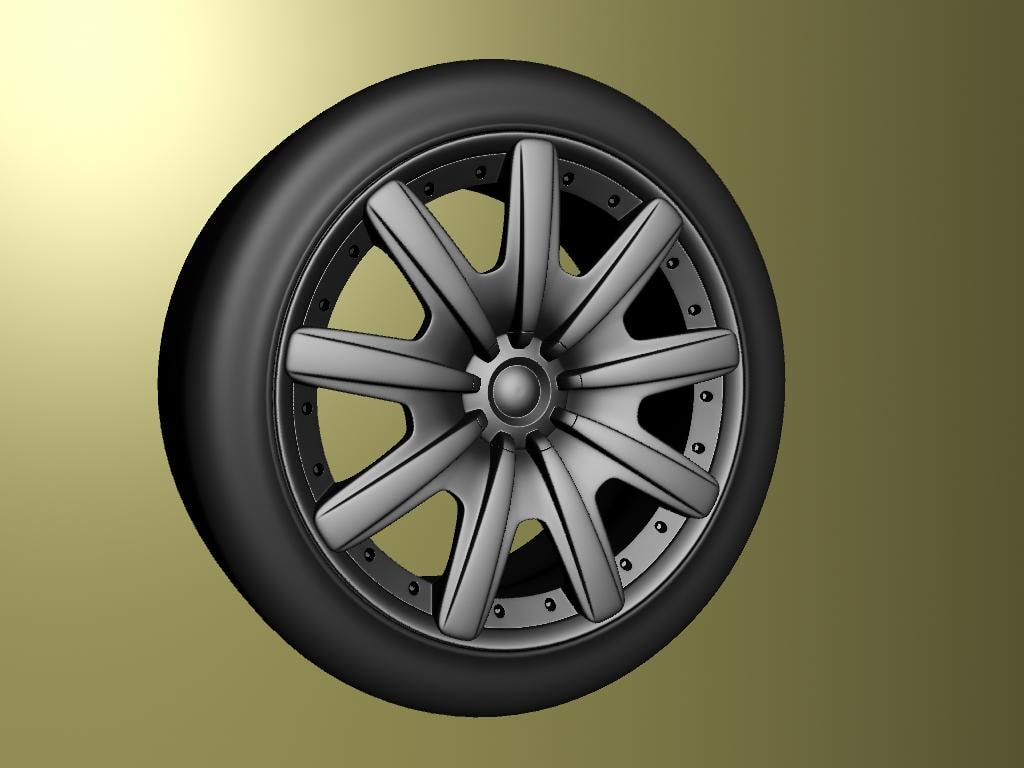 3d bentley gt wheel model