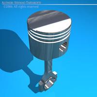 3d model piston