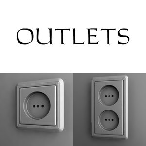 outlet switch 3d 3ds