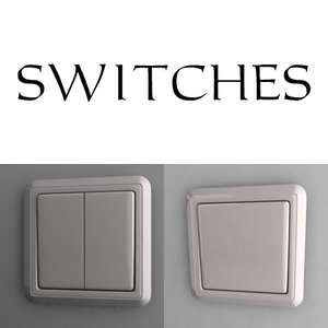 3d outlet switch model
